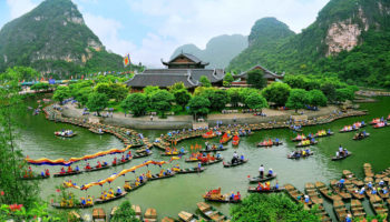 Booking.com travel ninh binh feature image, incredible asian journeys