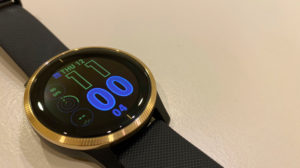 Garmin Venu Smartwatch review on desk