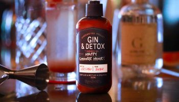 Gin + Detox Soap on Table